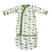 Kyte Baby Organic Sleeper Gown Comfort All Through Night Soft Bamboo Rayon Material Animal Unicorn Whale France Silky Smooth Innovation Traditional Infant Feet Boy Girl Gift Bag Bundler Snap Closure Easy Changing Stretchy Material Loose Snug Fit Cozy Comfortable Spandex