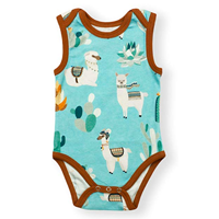 Earthy Organic Cotton Sleeveless Bodysuit Wear Baby Infant Boy Girl Preemie Animal Flower Vegetable Ultra Soft Super Cute Stretchy Natural Breathable Fabric Snap Crotch Lead Free Eco-friendly Toddler Printed Dye GOTS Indoor Outdoor Underwear Sleep Bed Quality Pyjama