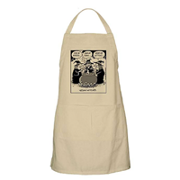 CafePress Vegan Witch Apron With Pocket Kitchen Grilling Baking Khaki Lemon White Heavy Cotton Long Professional Print Funny Unique Gift Men Women Father Mother Valentine Birthday Christmas Hannukah Machine Wash