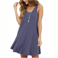 dress dresses MOLERANI Casual Loose T-shirt Tee Dress Classy Versatile Simple Swing Rayon Spandex Many Colors Beach Party Work Outside Soft Fabric Comfortable to Wear Flowy Super Stretchy Sleeveless Summer
