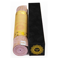 Eco-friendly Natural Jute Yoga Mat Beautiful Gift Yogi Birthday Travel Holiday Exercise Fitness Non-toxic Organic Reversible Carry Strap Anti Slip Bacterial Vegan Australia Cotton Outdoor Indoor Studio Durable Lightweight Skin Joints Soft Comfort Beginner Men Women Pilates Relax Zen Meditation
