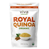 Viva Naturals Organic Quinoa Large Grain Highlands Bolivia Nuttier Flavor Soft Whole Royal Ideal Optimal Texture Round Hearty Delicate Mouth Feel Satisfy Hunger Full Longer Fiber Protein Curb Food Cravings Diet Lunch School College Work Gym Essential Amino Acid Enzyme Production Health Recipe Stir Fry Sushi Mexican Fair Trade Rice Cooker