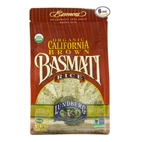 Lundberg Family Farms Organic California Brown Basmati Rice Aromatic Fragrance India Exotic Fluffy Dry Texture Nutty Flavor Aroma Stir Fry Salad Stuffing Pilaf Dessert Gluten Free Kosher Recipe Cooking Store Cupboard Health Whole Grain Lunch Work School College