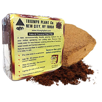 Triumph Plant Coconut Coir Fiber Peat Alternative Pack Less Watering Environment Eco-friendly Sustainable Natural Repel Bug Bacteria Mold Gallon Coco Soil Mixture Container Gardening