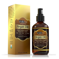 Voila Ve Certified Organic Moroccan Argan Oil Skin Beautiful Conditioned Hair Skin Nails Face Cold-pressed Un-refined Pure Natural Moisturizer Conditioner Bottled Premium Quality USDA Hydration