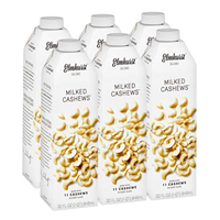 Elmhurst Milked Cashews – Pack of 6 Vegan and dairy-free, made with only 5 ingredients.  Perfect in coffee. Non-dairy, vegan, milk alternative, plant-based, dairy-free