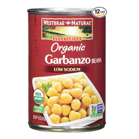 Westbrae Natural Organic Garbanzo Beans Canned Pack Store Cupboard Staple All Occasions Hummus Tagine Meal Ready Quick Easy Pantry Protein Salad Certified Recyclable Can Low Sodium Fiber Source Non-GMO Ready Serve Soaking Nutritious Tasty Wholesome Ethnic Recipe Lifestyle Diet