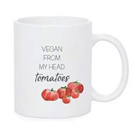 Sweet Bella Stationary Vegan From My Head Tomatoes Mug Design Hudson Valley Company Gift Her Ceramic Strong Dishwasher Durable