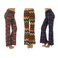 Dinamit Jeans Ethnic Bell Bottom Flare Pant Super Funky Retro Design Colorful Junior Printed Soft Spandex Poly Super Comfy Comfortable Light-weight Fabric Knitted Lounging Party Beach Summer Spring Fall Winter Birthday Festival Holiday Evening Daytime