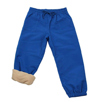 Jan and Jul Kids Rain Pants Waterproof Fleece Lined Active Single Layer Polyester Windproof Technology Repellent Breathable Warm Soft Pocket Outdoor Spring Fall Winter Comfortable Elastic Snow Play School Home Garden Park Camping Versatile Gear Everyday Cold Weather