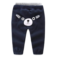 Mud Kingdom Cute Kid Jogger Pants Leisure Bear Fleece Winter Fall Spring Cotton Lined Elastic Waist Comfortable Adorable Gift Practical Versatile Play Active Outdoor Indoor