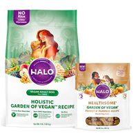 Halo Holistic and Peanut n Pumpkin dog treats Perfect for dogs who are sensitive to animal products or owners who prefer to live the fully vegan lifestyle Vegan-friendly, dog treats, Garden of Vegan recipe, holistic variety, grain free and naturally crunchy