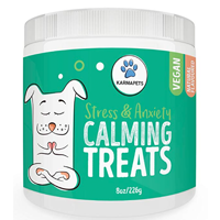KarmaPets Stress and Anxiety Calming Treats Natural supplements to bring your pets emotions back into balance Vegan, organic, healthy ingredients
