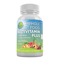 Supplements Studio Whole Food Multi Vitamin Plus Organic Vegan Men Women Daily Fruit Vegetable B Complex Probiotic Enzyme Omega Tumeric Capsule Boost Immune System Mental Clarity Energy Healthy Gut