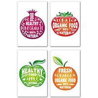 Unconditional Rosie Vegan Healthy Poster Motivational Quote Four Inspirational Print Fruit Design Inspire Eat Decorate Organic Wall Mount High Quality Thick Cardboard Tape