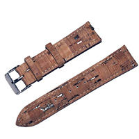 Grumbles Stuff Cork Replacement Watch Band Strap Funky Vegan Leather Alternative Brown Environment Eco-friendly Sustainable Water Sweat Fade Resistant Practical