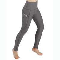activewear ODODOS High Waist Out Pocket Yoga Pants Tummy Control Workout Running 4 Way Stretch Yoga Leggings Polyester Spandex Nylon Range of Colors Performance Fashion Function High Quality Fabric Flex Pant Maximum Comfort Contoured to Body Streamlined