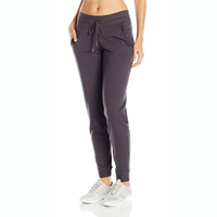 activewear Steve Madden Women's Jogger Pants Vegan Leather Accents Cotton Polyester Spandex Quick Dry Look Good Comfort