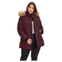 coat Alpine North Vegan Down Parka Winter Jacket Plus Size Toasty Warm Fall Spring Polyester Cotton Machine Wash Vegan Down Insulation Temperature Rating Warmest Faux Fur Water Repellent Fabric Reflective Trim Pockets Adjustable Side Strips Safety Nightime Visibility